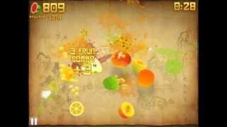 getlinkyoutube.com-Fruit ninja Arcade high score over 1000 Ipad version !!!