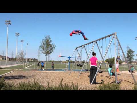 Spider-Man At The Park (Look At The Kids Smiles)