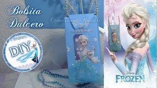 getlinkyoutube.com-Bolsita o Dulcero Cajita Elsa de Frozen (Material reciclado) / Frozen's Elsa Candy Bag