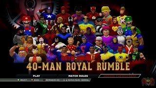 getlinkyoutube.com-WWE 2K15 West Coast Caws 40 Man Royal Rumble