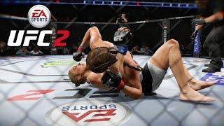 getlinkyoutube.com-EA UFC 2 (Xbox One) Ronda Rousey vs Miesha Tate - Full Fight (Championship)