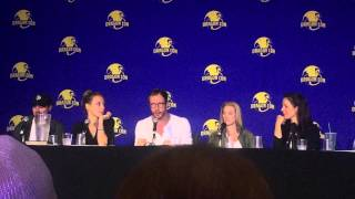 Anna sleeping with strangers in the bathroon LOL Monday's Lost Girl Dragon Con Panel