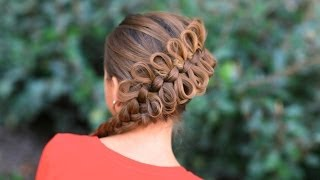 getlinkyoutube.com-How to Create a Diagonal Bow Braid