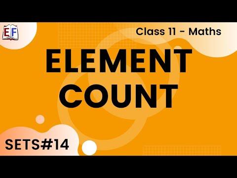 Maths Sets Mathematics CBSE Class X1 Part 14 (Element count -Concept)