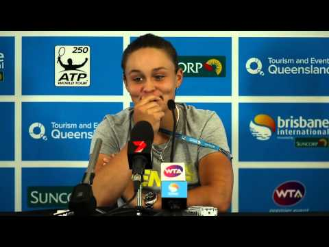Ash Barty 1st Round Press Conference - Brisbane International 2014