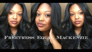 getlinkyoutube.com-Freetress Equal Mackenzie | Lace Front Invisible Part | Color 1