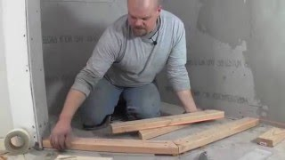 getlinkyoutube.com-how to build a custom shower pan -  how to build the curb