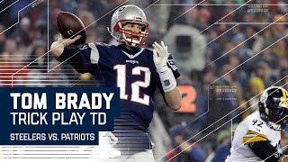 getlinkyoutube.com-Tom Brady Hits Hogan for TD on Flea Flicker! | Steelers vs. Patriots | AFC Championship Highlights