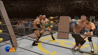 getlinkyoutube.com-WWE 2K16 - Table Match | John Cena vs The Miz vs Ryback vs The Rock Gameplay (HD)