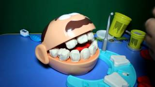 getlinkyoutube.com-Play Doh Dr Drill n fill Set El Dentista Bromista - Dottor Trapanino - Le Dentiste Play Dough