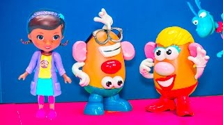 DOC MCSTUFFINS + TOY STORY Doc McStuffins Saves Mr  Potato Head Video Toy Parody