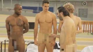 getlinkyoutube.com-WTF ! 4 French Athletes butt naked during a photo shoot for Athena