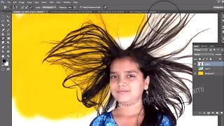 getlinkyoutube.com-#12 Hair Cutting with Background Eraser and Magic Eraser Tool
