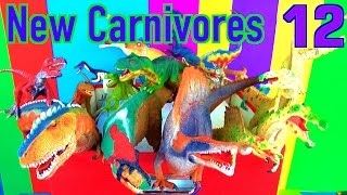 getlinkyoutube.com-DINOSAUR Box 12 TOY COLLECTION - NEW CARNIVORE DINOSAURS Unboxing Toy Review SuperFunReviews