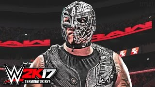 getlinkyoutube.com-WWE 2K17 - Rey Mysterio Terminator Edition Takes 50 Finishers Lucha Underground (WWE 2K17 Gameplay)
