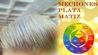 getlinkyoutube.com-Matizar Mechones o Rayos Color Plata ( How to tone down yellow reflects and make hair silver/white)