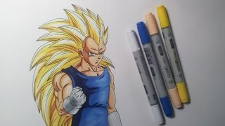 getlinkyoutube.com-Drawing Vegeta SSJ3 - Super Saiyan 3