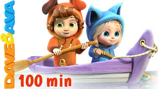 getlinkyoutube.com-Row Row Row Your Boat | Nursery Rhymes Collection and Baby Songs from Dave and Ava
