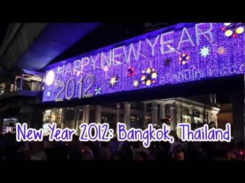 New Year's Eve 2012 in Bangkok, Thailand (Fireworks at Central World)