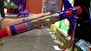 getlinkyoutube.com-Marshmallow Fun Company Blasters and Shooters At Toy Fair 2013, Can They Knock Out Our Camera?
