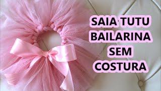 getlinkyoutube.com-Como fazer saia de bailarina sem costura ❤ Cami Deoli