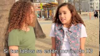 getlinkyoutube.com-Meghan Trainor Lips Are Movin - MattyBRaps & The Haschak Sisters !Letra En Español!