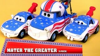 getlinkyoutube.com-NEW 2013 Mater the Greater Toys CARS TOON With Mater's Fan Mia & Tia Walmart EXCLUSIVE Disney Pixar