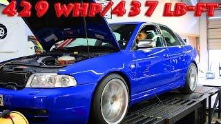 getlinkyoutube.com-Audi S4 Stage 3 Dynojet Dyno Pulls at BCP - 429 WHP / 437 lb-ft.  Bonus B7 RS4 Pull at end...