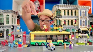 LEGO 60154 Bus Station   TimeLapse & Review