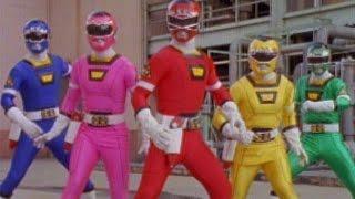 Power Rangers Turbo - First Morph and Fight (Power Rangers vs Piranhatrons) width=