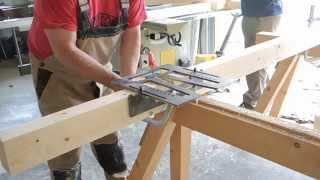 getlinkyoutube.com-Vordach für Brennholz am Carport befestigt DIY #006 selber bauen mit Schwalbenschwanz v. Heimwerker