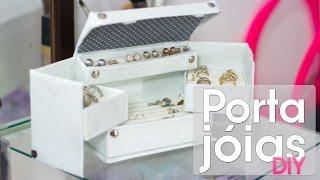 getlinkyoutube.com-Caixa organizadora de jóias / bijuterias