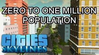 getlinkyoutube.com-Cities: Skylines - 0 to 1 Million Population in High Speed