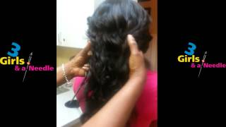 getlinkyoutube.com-Lace And Silk Closure Sew-In Installation