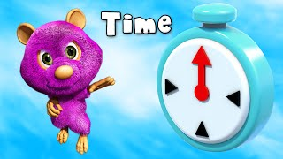 getlinkyoutube.com-What Time Is It Now? - What's the Time?, Time Song for Children | Kids English Nursery Songs