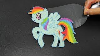 getlinkyoutube.com-Pancake Art - Rainbow Dash (MLP - My Little Pony) by Tiger Tomato