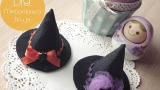 getlinkyoutube.com-DIY: Mini Sombrero de Bruja / Mini Witch Hat