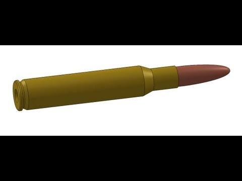 SolidWorks tutorial: Rifle cartridge and bullet