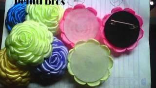 getlinkyoutube.com-Tutorial Cara Membuat Bros Bunga Dari Pita Satin