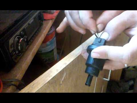 Проверка клапана адсорбера