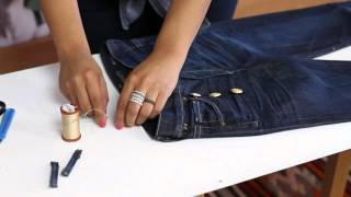 How to Make Sailor-Inspired Jeans