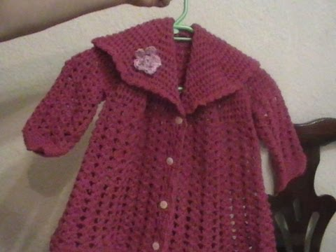 Crochet Como Tejer un Abrigo para Bebe o niña