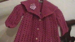 getlinkyoutube.com-Crochet Como Tejer un Abrigo para Bebe o niña