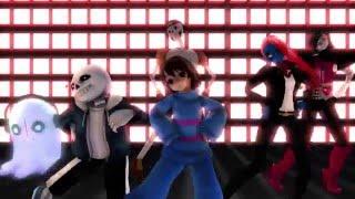 getlinkyoutube.com-[MMD x Undertale] Gangnam Style