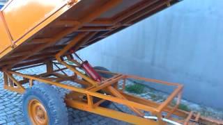 getlinkyoutube.com-hydraulic dump trailer,самосвальный прицеп для трактора,хидравлика на ремарке
