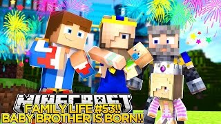 getlinkyoutube.com-FAMILY LIFE #53 - OUR BABY BROTHER IS BORN!! - Little Donny Minecraft Custom Roleplay.