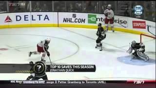 getlinkyoutube.com-TSN Top 10 NHL Goalie Saves Halfway Through The Season 2014/2015