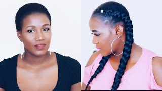 How To| Crochet Feed Braids On Short Natural 4C Hair
