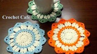 getlinkyoutube.com-كروشيه قواعد للأكواب | كروشيه كافيه | Crochet Cafe