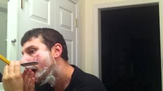 getlinkyoutube.com-Straight Razor Shaving with a NooB